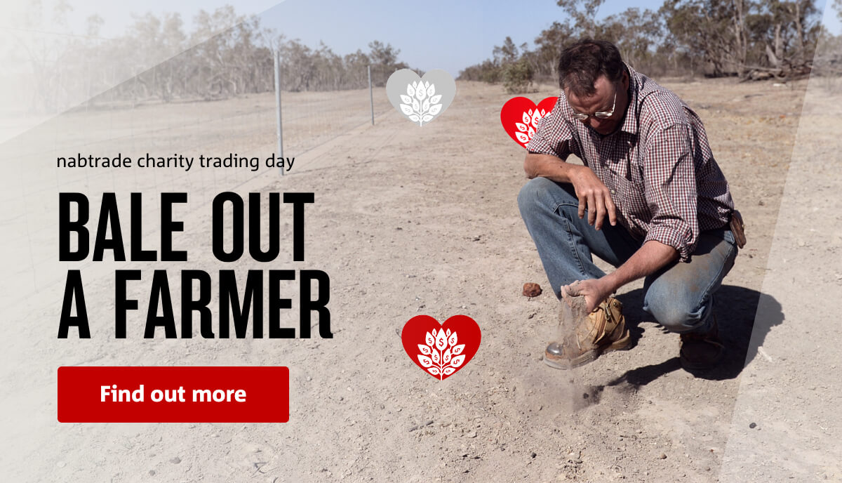 nabtrade charity trading day | BALE OUT A FARMER | Find out more